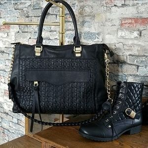 STEVE MADDEN Black Vegean Crossbody